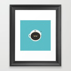 The Spaceman on Earth Framed Art Print