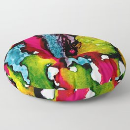 Primary Psychedelic Melt Down Floor Pillow