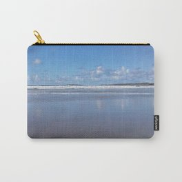 Blue and White Beach Carry-All Pouch