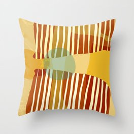 Mid Century Modern Abstract Design - Earthtones Throw Pillow