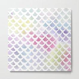 Watercolor fish scale pattern Metal Print