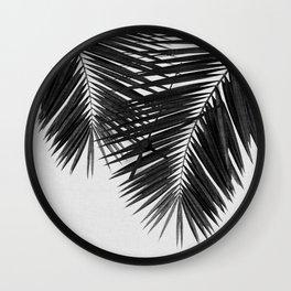 Palm Leaf Black & White II Wall Clock