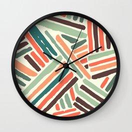 Color stitch Wall Clock