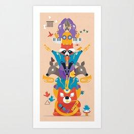 Honk Totem Art Print