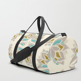 Art deco abstract butterflies in light pastel colors Duffle Bag