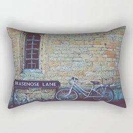Bike, Wall and Window- Oxford, England Rectangular Pillow