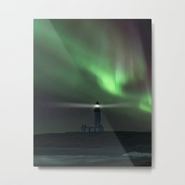 When the northern light appears Metal Print