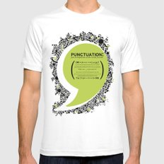Punctuation [Appreciation]. Mens Fitted Tee White MEDIUM
