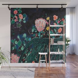 Sunday Neon Night Jungle Wall Mural