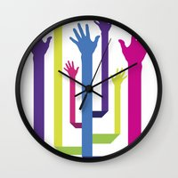 hands Wall Clocks featuring Hands by Sitchko Igor