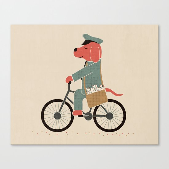 Postdog Canvas Print