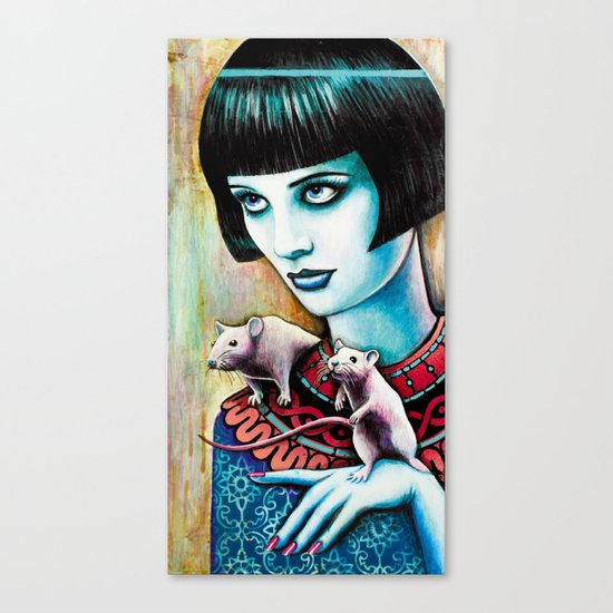 Diana and the Rats Canvas Print
