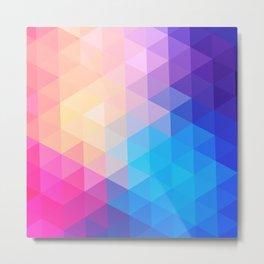 pink  triangles design Metal Print