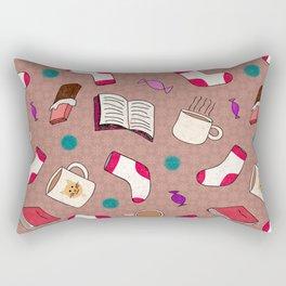 A Cozy Winter's Night Rectangular Pillow