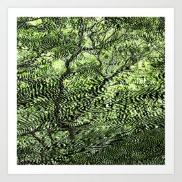 Psychedelic Tree Art Print
