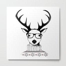 Hipster deer Metal Print