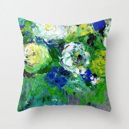 Abstract Floral - Botanical Throw Pillow