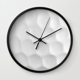 Golf Ball Dimples Wall Clock