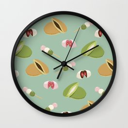 Japanese sweets (Green) Wall Clock