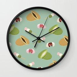 Japanese sweets (Green) Wall Clock