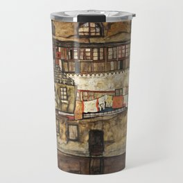 Egon Schiele - House Wall on the River, 1915 Travel Mug