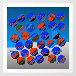 Bubbes Blues Art Print