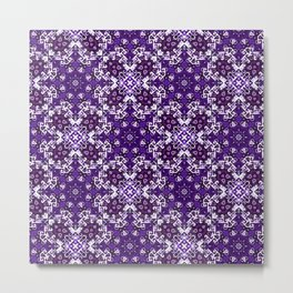 Bohemian Purple Fancy Tile Metal Print
