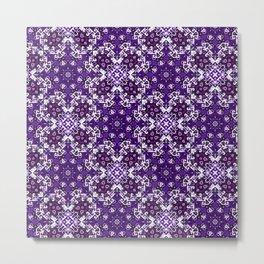 Bohemian Purple Fancy Tile Metal Print
