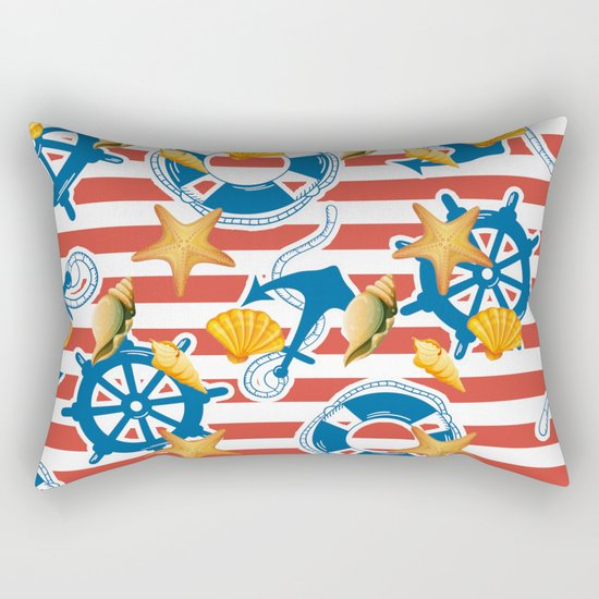 summer sea Rectangular Pillow