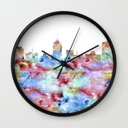 Fresno California Skyline Wall Clock