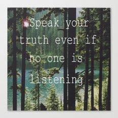 SPEAK YOUR TRUTH Canvas Print