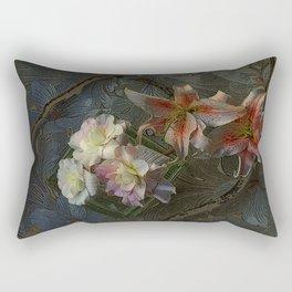 The Begonia Brocade Rectangular Pillow