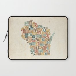 Wisconsin by County Laptop Sleeve