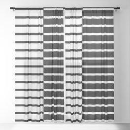 Zebra Plays Piano Sheer Curtain