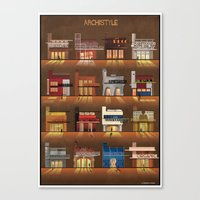 Canvas Prints featuring ARCHISTYLE by federico babina