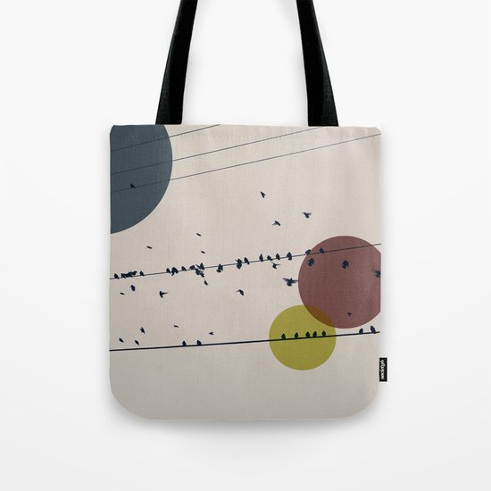 Chaos On The Wires Tote Bag