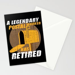 Retired Postal Worker Retirement Gift Stationery Cards