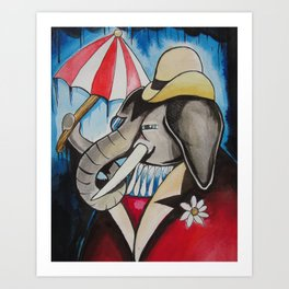 rainy days.  Art Print