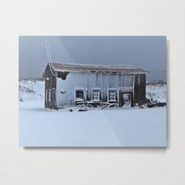 Snow Caked Barn Metal Print