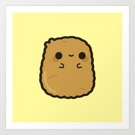 Cute chicken nugget Art Print