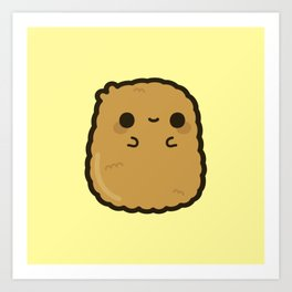 Cute chicken nugget Art Print