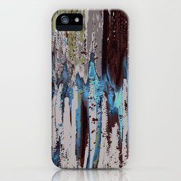 Merging Colors Abstract iPhone Case