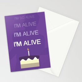 I'm so alive Stationery Cards