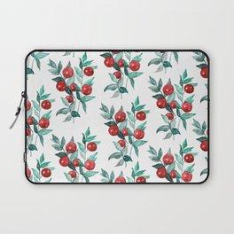 Festive watercolor red berries Laptop Sleeve