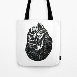 Sleeping Cat - Lino Tote Bag