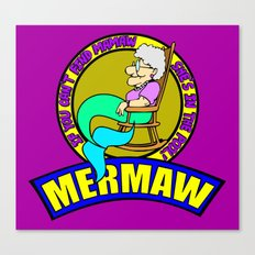 Mermaw   Canvas Print