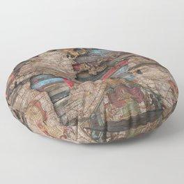 Distress World Floor Pillow