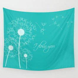 I floss you (Teal) Wall Tapestry