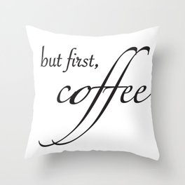 coffee type Throw Pillow