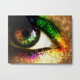 Rainbow Glitter Metal Print
